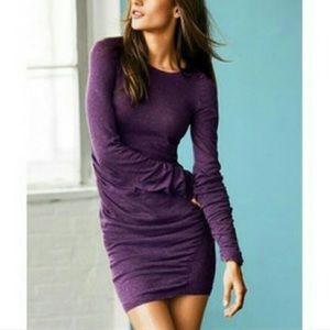 VS Moda International Purple Ruched Sweaterdress